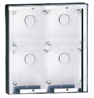 POWERCOM 4 MODULE STAINLESS STEEL SURFACE-MOUNTED HOUSING